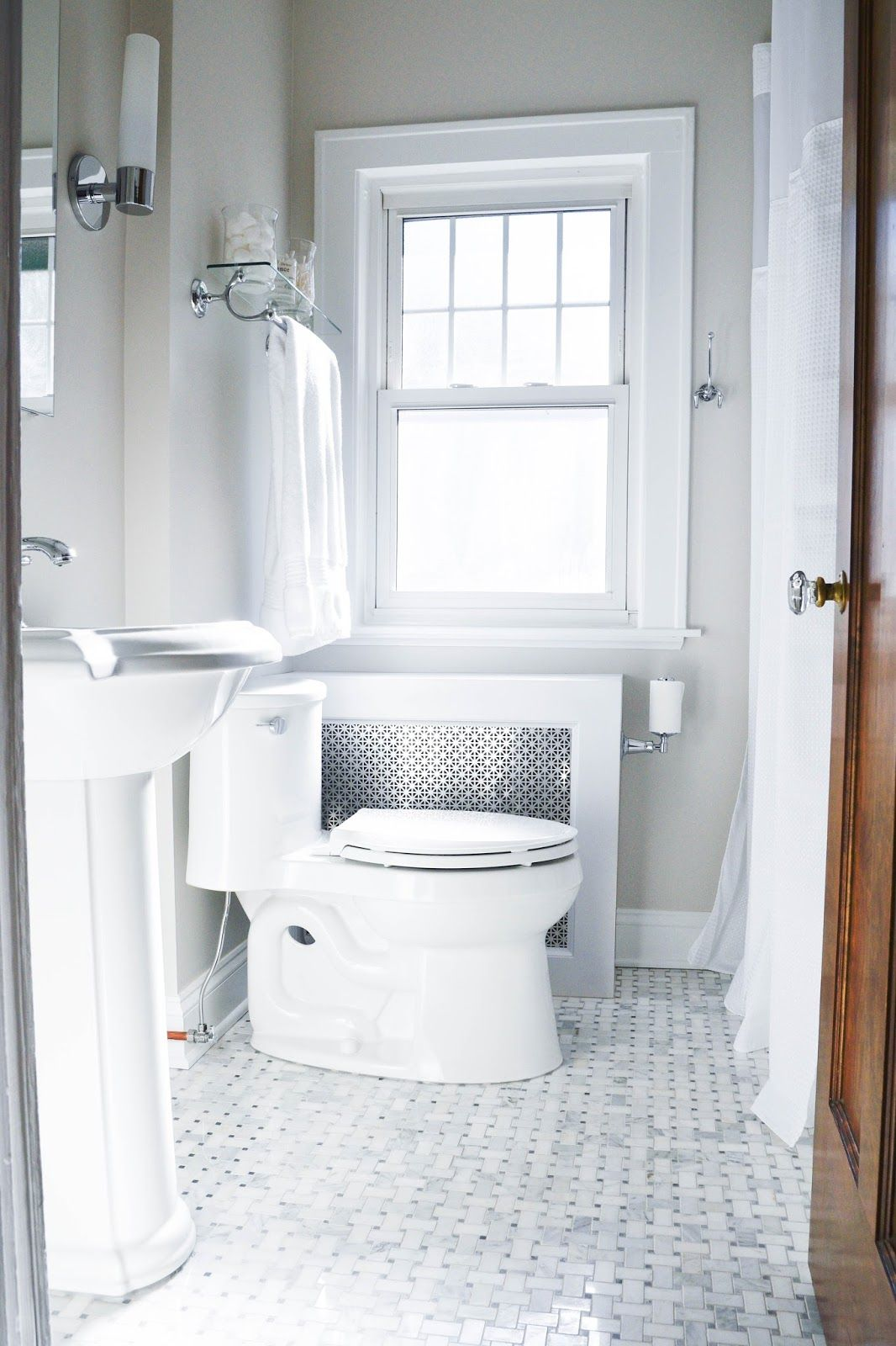 Modern Meets Traditional Styled Bathroom | Traditional, Modern and ...