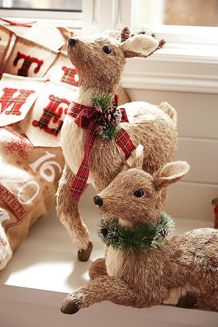 Pin by tina horn on a deer little christmas for Sisal decoration