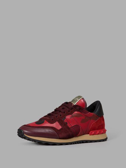 Fashion Ideas · Camouflage · VALENTINO Valentino Men'S Red Sneakers. # valentino #shoes #sneakers