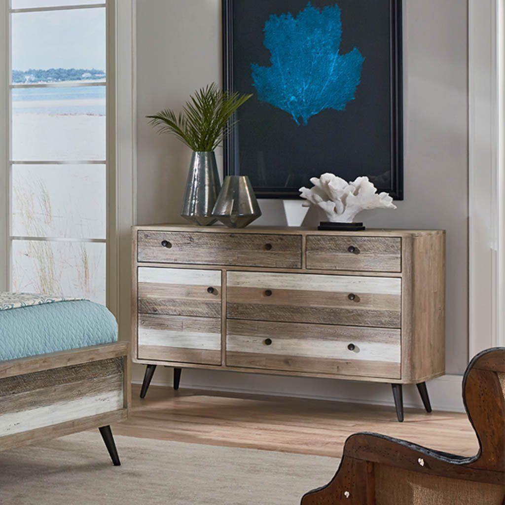 Beach House Dresser Distressed dresser, Bedroom