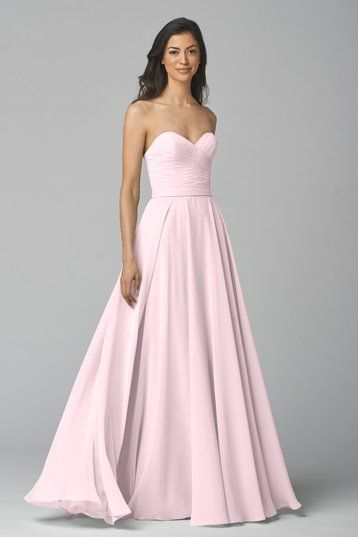 Shop Wtoo Bridesmaid Dress - 903 in Crystal Chiffon at Weddington Way. Find the perfect made-to-order bridesmaid dresses for your bridal party in your favorite color, style and fabric at Weddington Way.