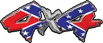 Rebel Confederate Flag X Chevy GMC Ford Toyota Dodge Truck Quad - Rebel flag truck decals   how to purchase and get a great value safely