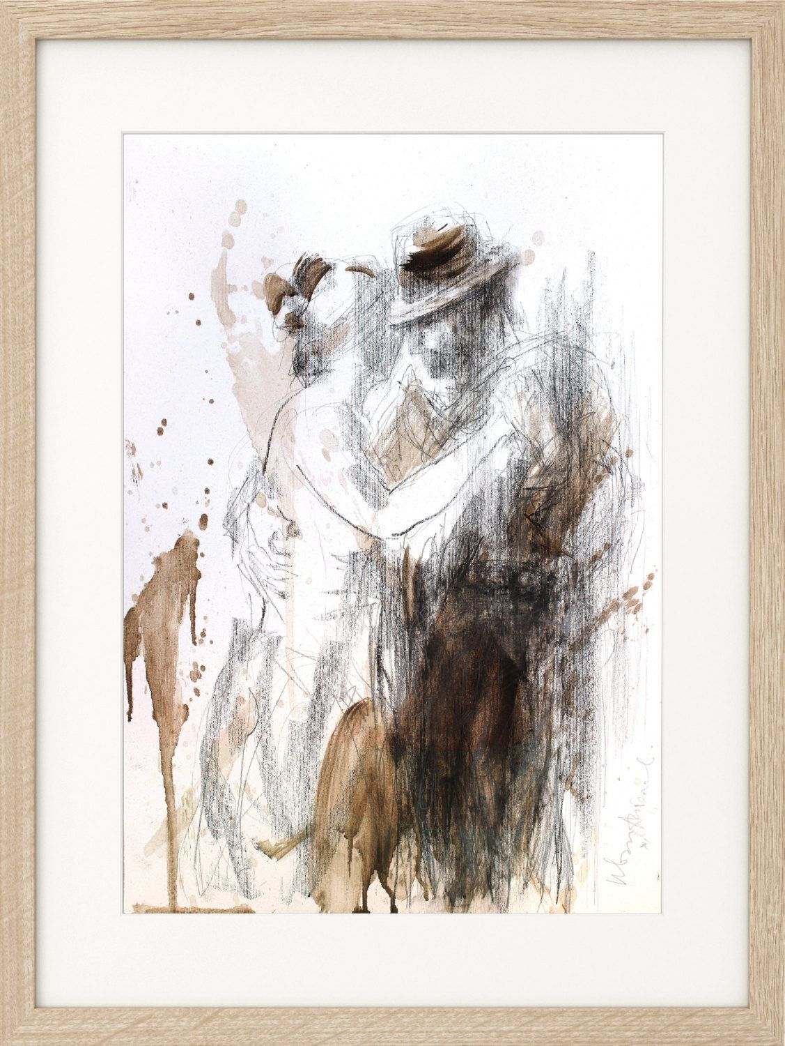 Charcoal sketch original artistic drawing dancing couple charcoal sketch original artistic drawing dancing couple figurative wall art modern graphic amipublicfo Image collections