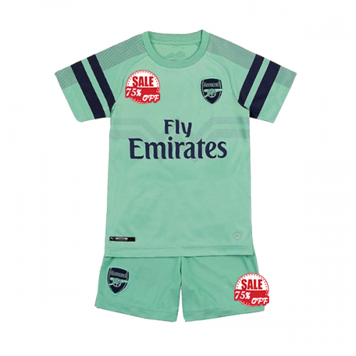 meet 39832 c107d Cheap Kids Arsenal Third Soccer Jersey Kit Children Shirt ...