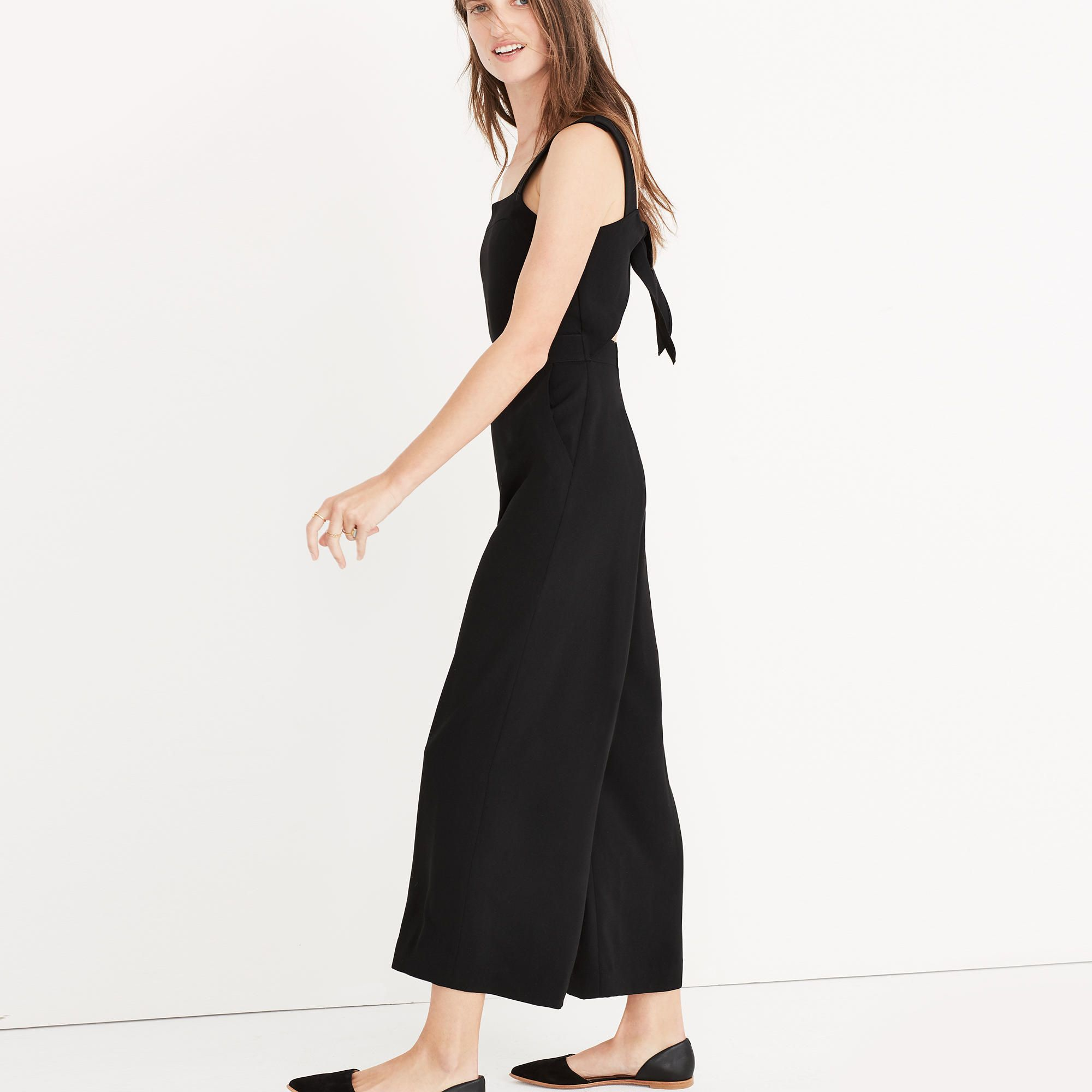 Apron Bow Back Jumpsuit Jumpsuits Rompers Madewell Style