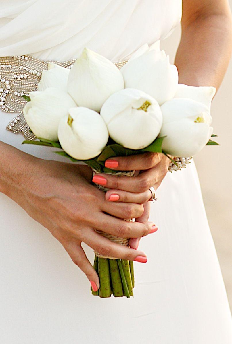 Posey closed white lotus weddings in thailand bouquet portfolio posey closed white lotus weddings in thailand wedding flower decorations flower bouquet wedding izmirmasajfo