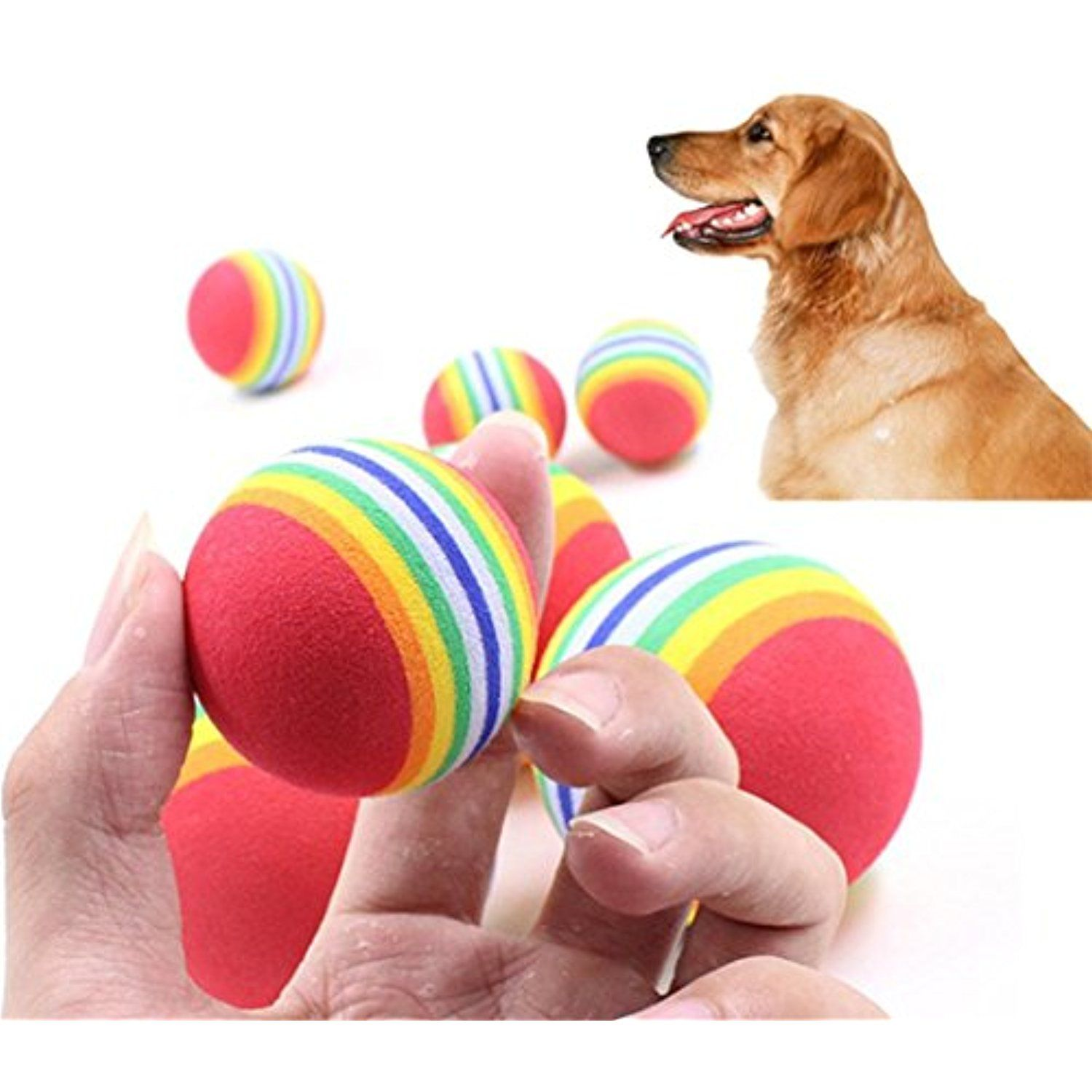 3pcs Dog Chew Toy Tough Rubber Ball Pet Dog Toy Training Chew Play