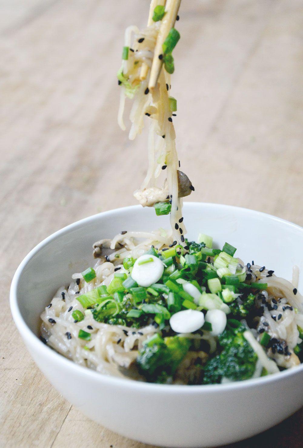 Brokkoli Reisnudeln - vegan & glutenfrei |www.juyogi.com