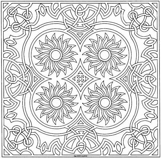 Coloriage mandala 19 imprimer coloriages mandalas - Coloriage a imprimer mandala ...