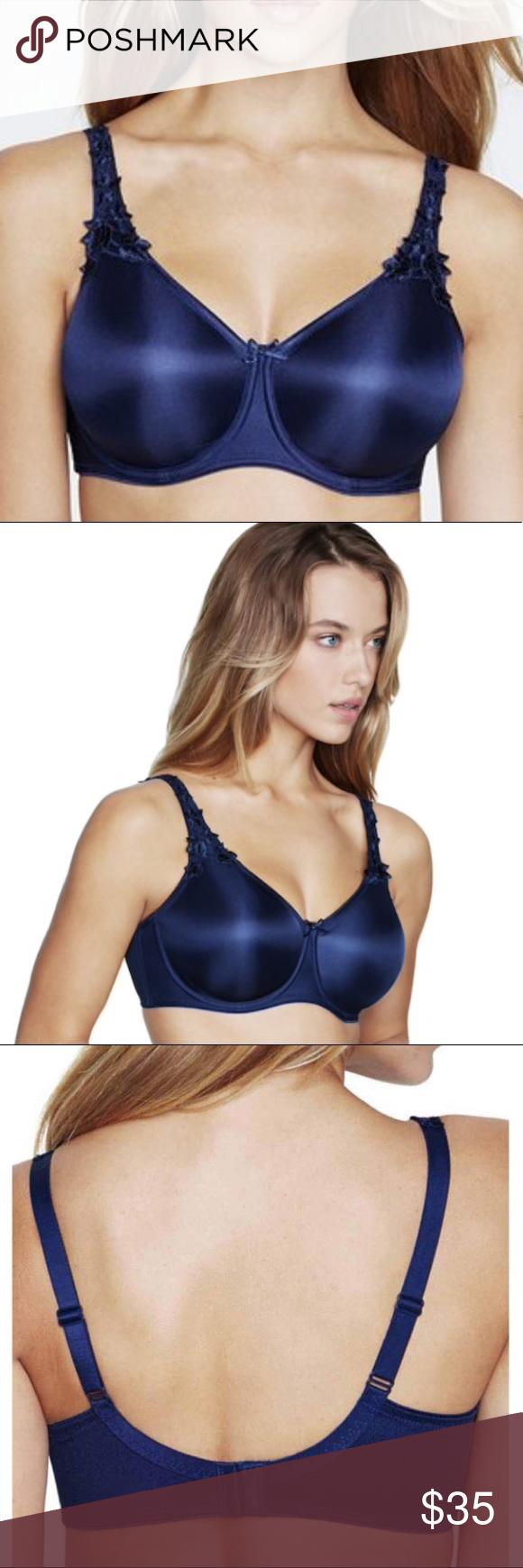 aefbf2cde46 Dominique Seamless Minimizer Bra 7000 Navy Blue This shape-defining bra  provides discreet