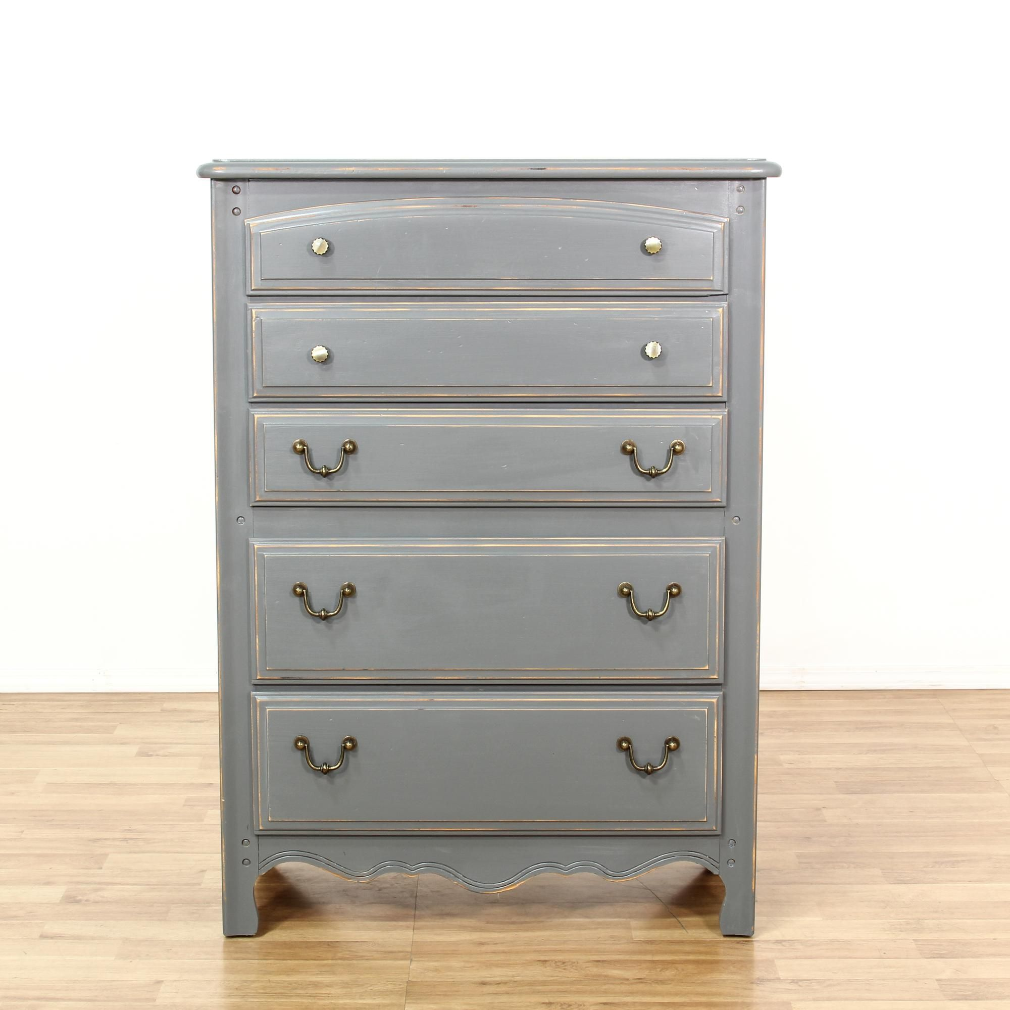 This Lea Tall Dresser Is Featured In A Solid Wood With A Grey Paint Finish This Shabby Chic Style Chest Of Draw Shabby Chic Dresser Tall Dresser Shabby Chic [ 2000 x 2000 Pixel ]