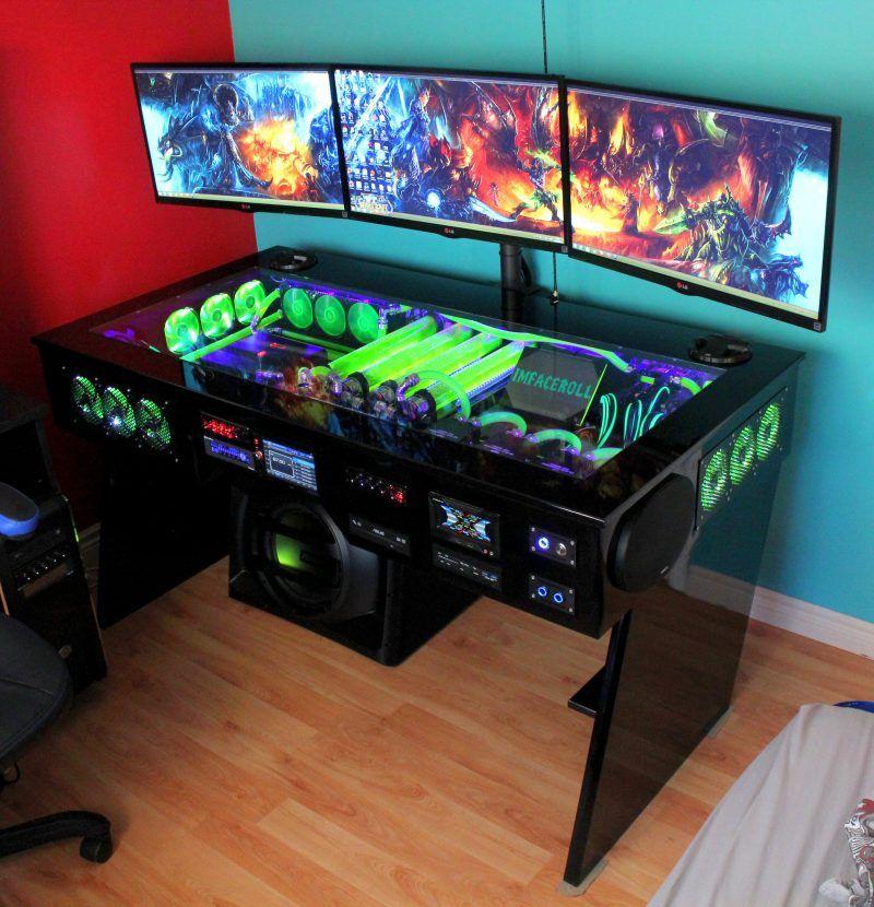 Gaming schreibtisch selber bauen  Gaming-Paradies: 17 Ideen für Gaming Schreibtisch   Gaming ...
