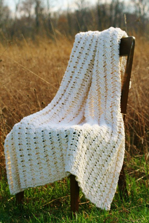 Crochet Afghan Pattern, Blanket, The Nancy Afghan, Crochet Blanket ...
