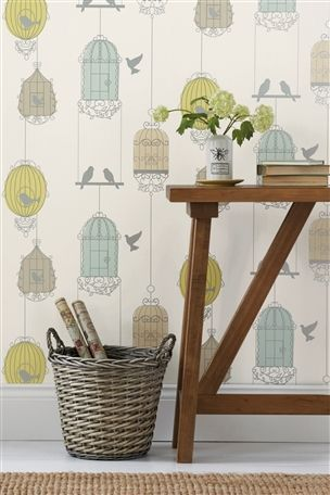 Vintage Charm Blue Bird Cage Wallpaper Bird Wallpaper Uk Bird Wallpaper Birdcage Wallpaper Fabric Wallpaper