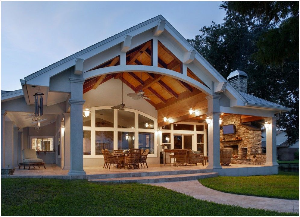 Patio traditional jacksonville cane furniture cathedral for Gable patio designs