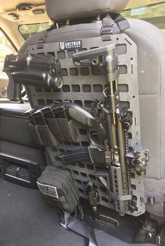 Grey Man Tactical Rigid Molle Panel Vehicle Seat Back Www