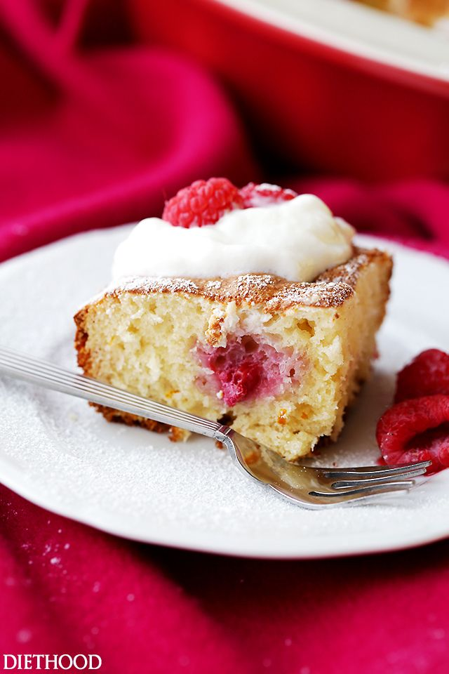 Raspberry Cream Cheese Coffee Cake Lightened Up Quick And Easy
