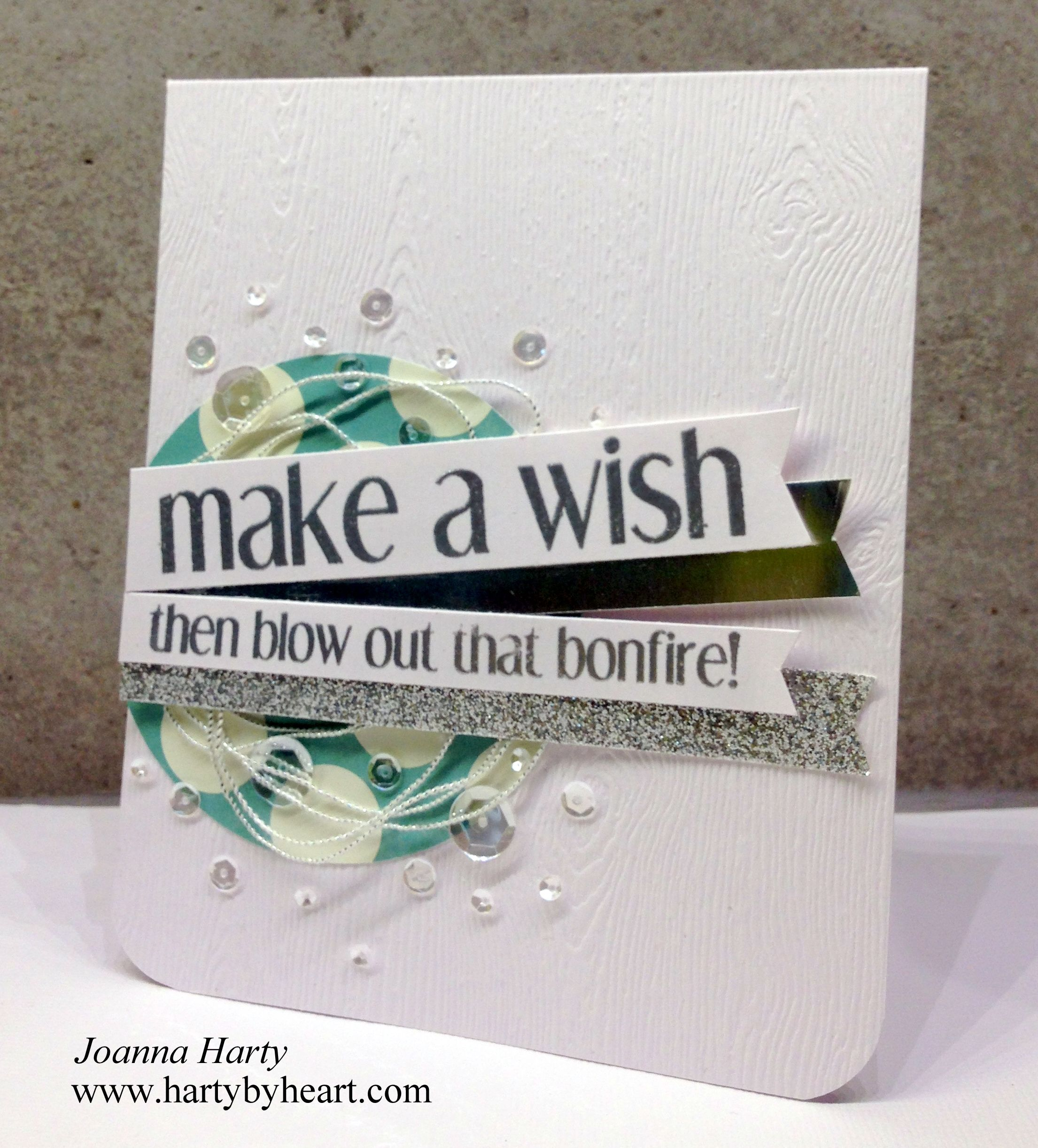 Happy Birthday card created by Joanna Harty using CFS Shenanigans