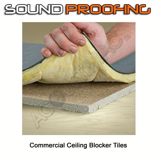 Commercial Soundproofing Drop-Ceiling Blocker Tiles 2'x2
