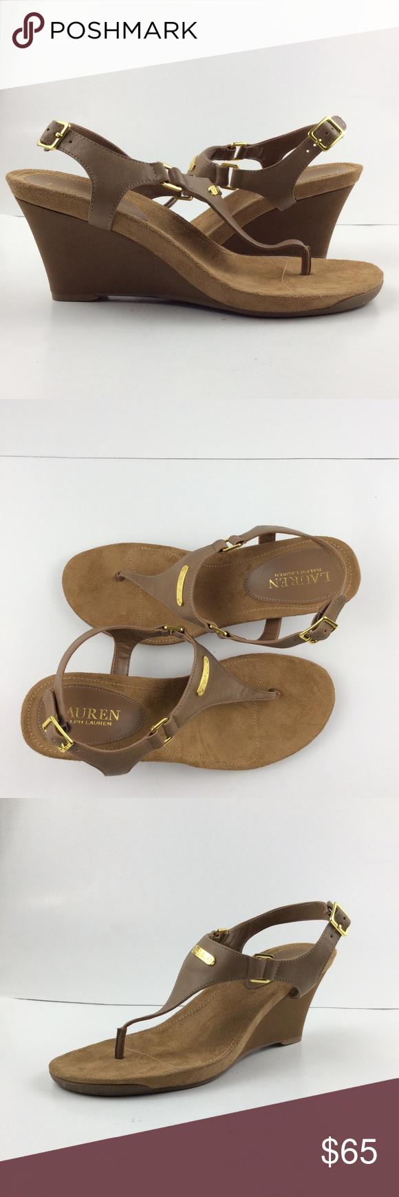 17ce139589 Lauren Ralph Lauren Women's Nikki t-Strap Wedge Revive your signature warm-weather  look with the versatile Nikki wedge sandal.