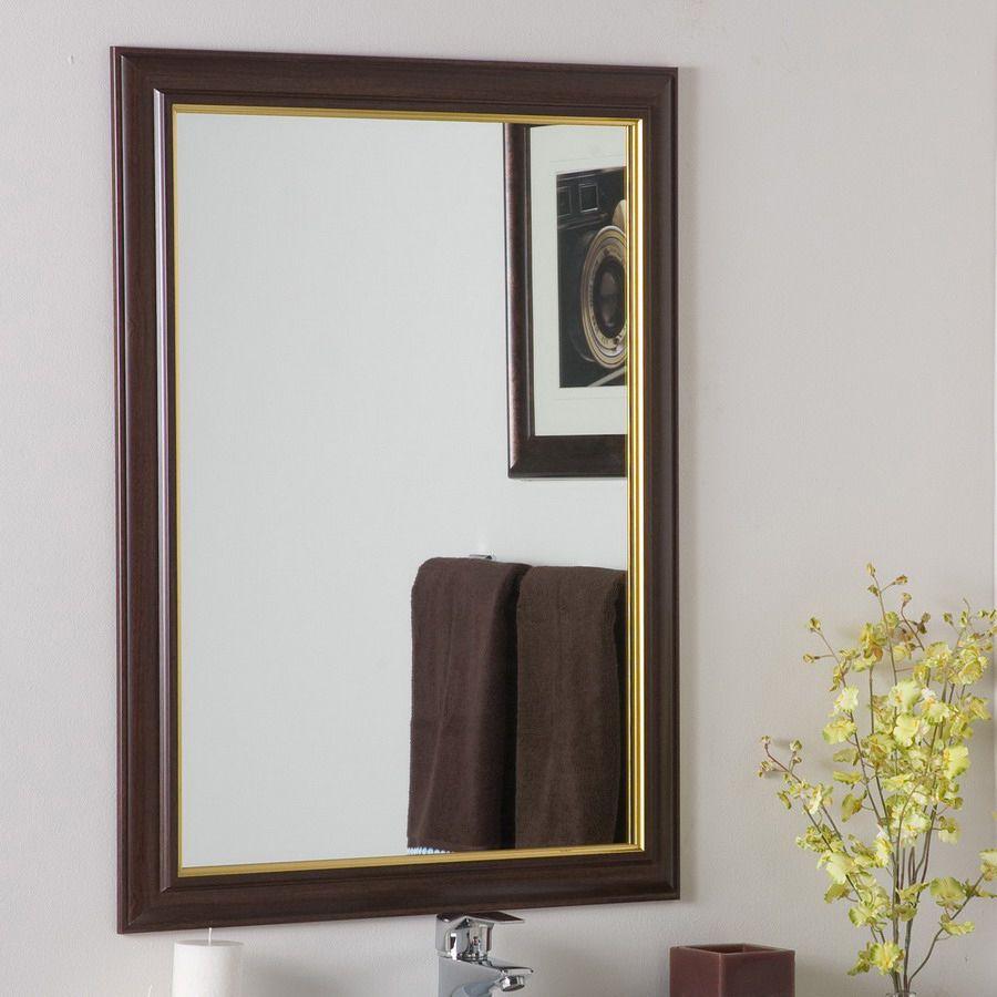 Decor Wonderland 23.6-In W X 31.5-In H Rectangular Bathroom Mirror ...