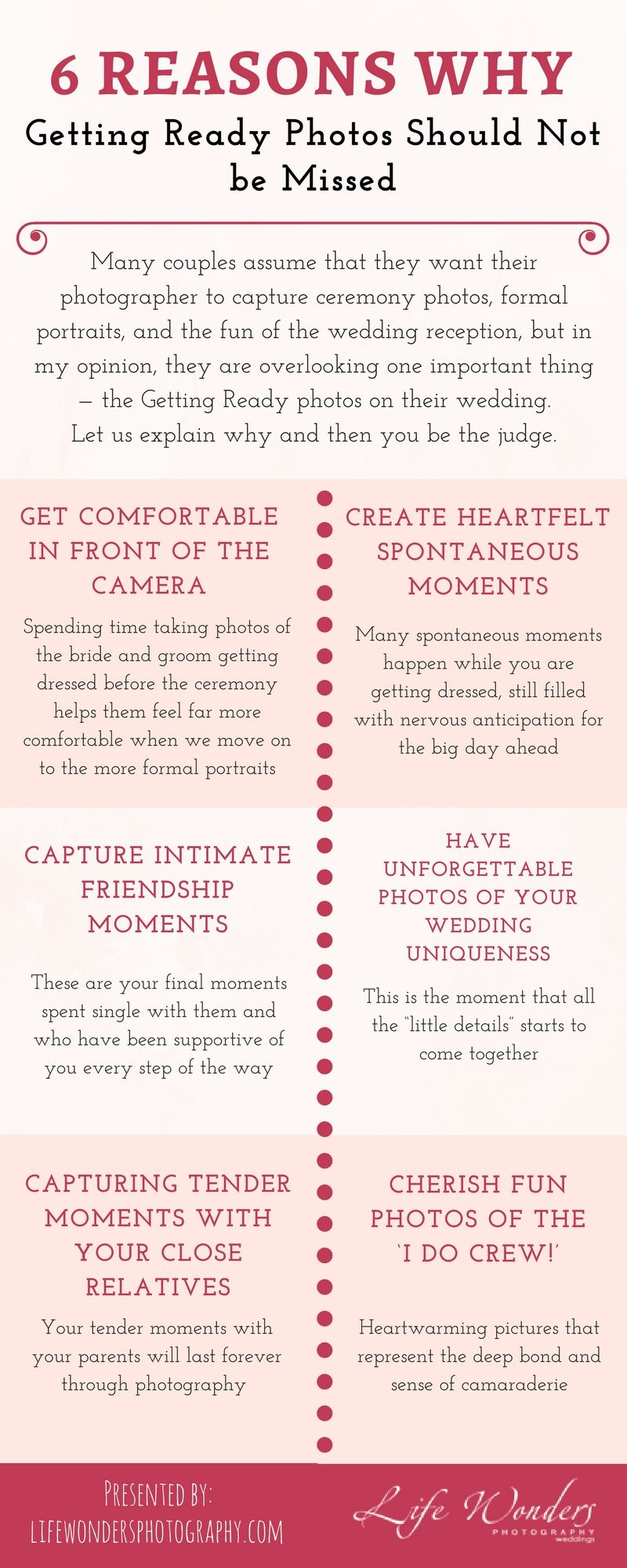 6 Reasons Why Getting Ready Photos Should Not Be Missed