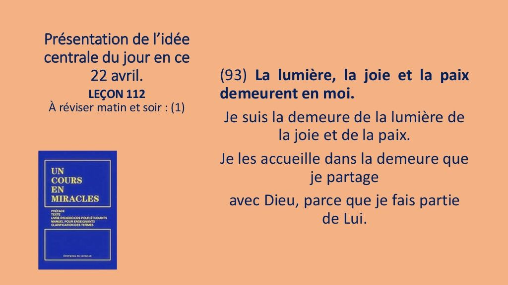 Leçon 112 - Énoncé et pratique by Pierrot Caron via slideshare