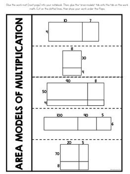 Area Model Multiplication Interactive Notebook   Area ...