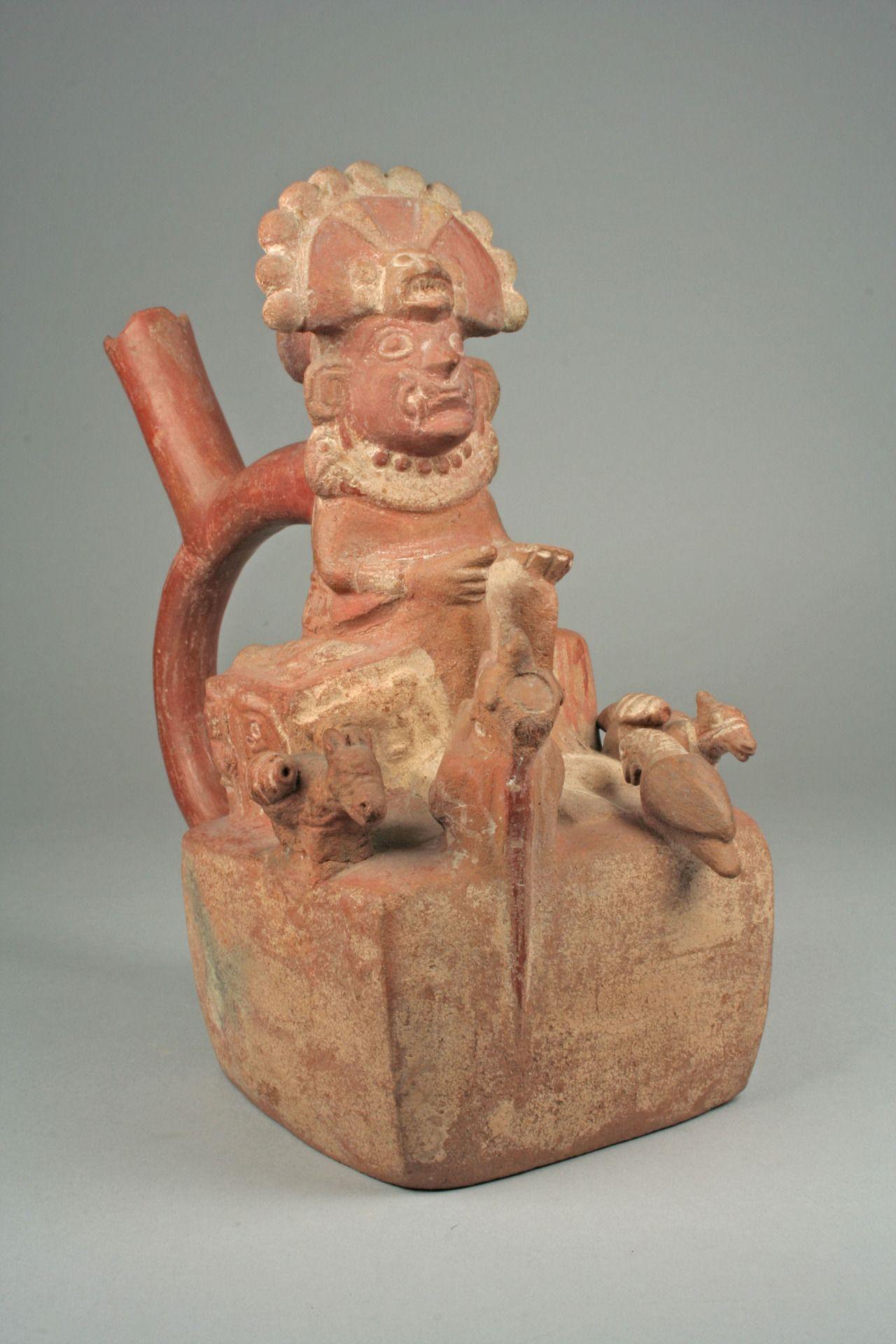 Bottle, Throne Scene Peru. Moche. 4th to 7th century AD The Met