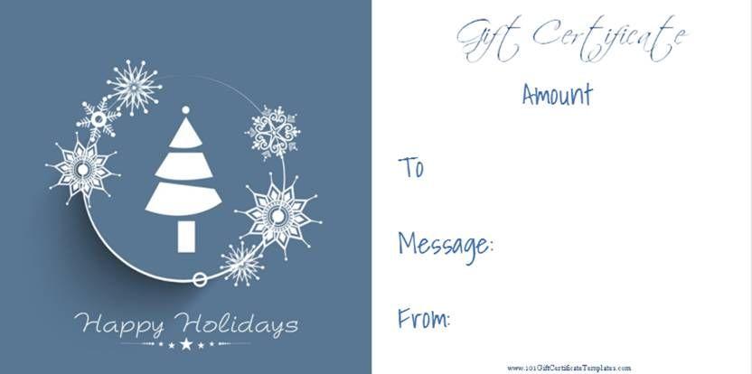Christmas Gift Certificate Templates Christmas Gift Certificate Template Christmas Gift Certificate Gift Voucher Design