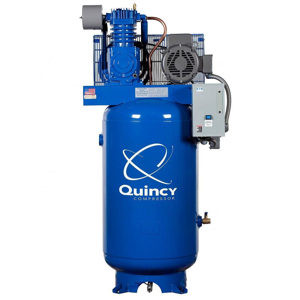 Rural King Air Compressor >> Quincy Qt 7 5 Vertical 80 Gallon 7 5 Hp 2 Stage Air Compressor