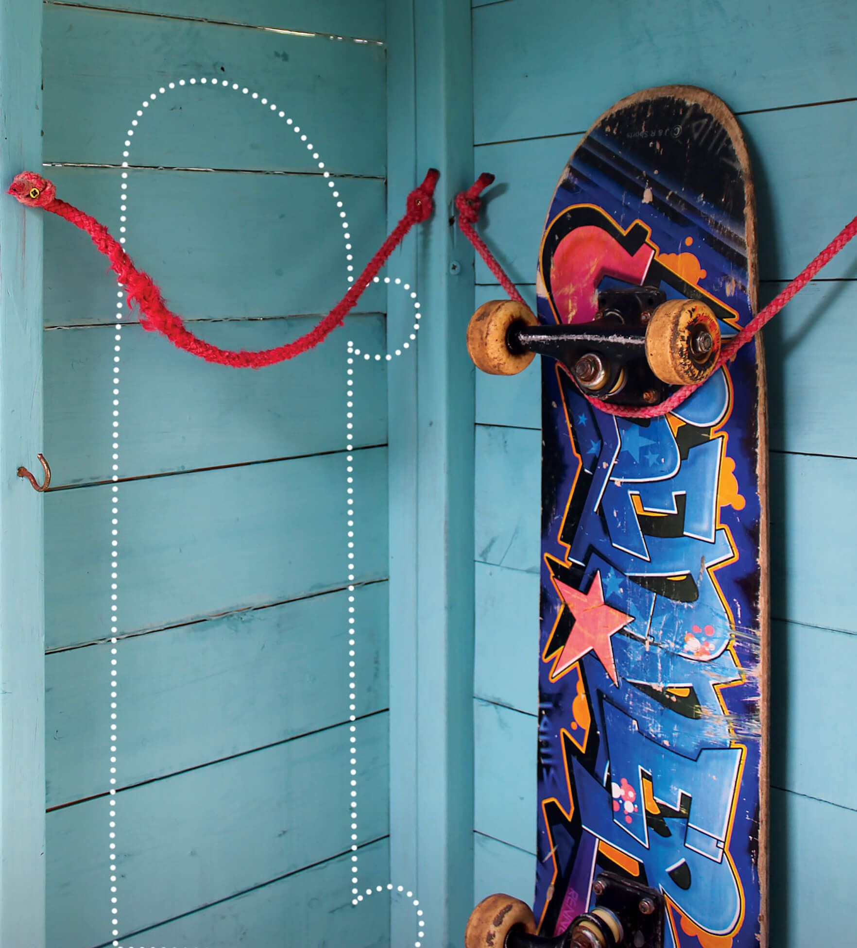 How to wall hang a skateboard to show off the graphics