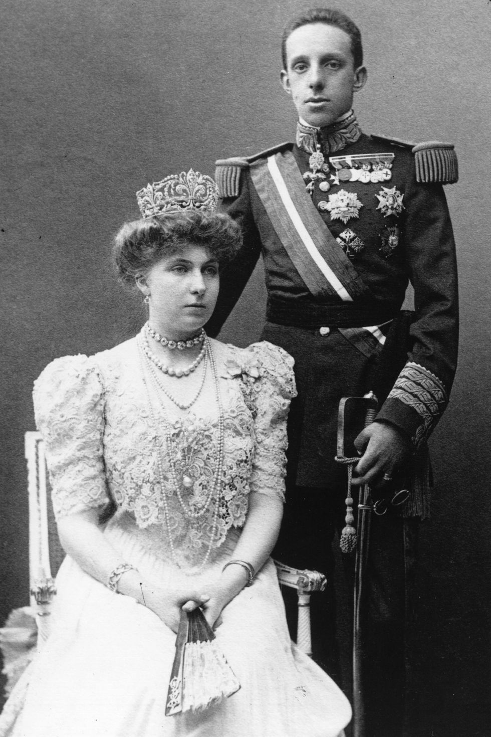 King Alfonso XIII and Queen Ena. Spanish royal family