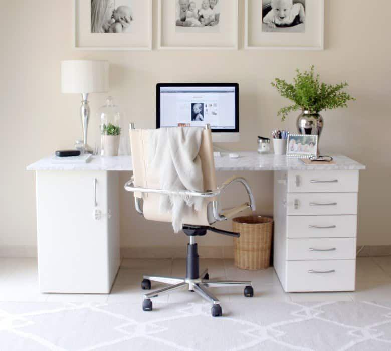 Diy Decor Ideas For White Bedrooms Marble Desk Diy Desk Decor Desk Decor