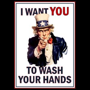 Uncle Sam Wash Your Hands Sticker Hand Sticker Wash Your Hands Uncle Sam