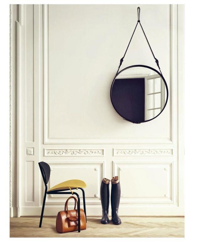 Spiegel Gubi Leder Spiegel Jacques Adnet Mirror M Ein