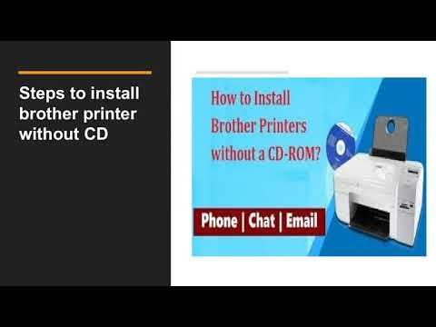 How To Install Brother Printer Without CD 1-877-201-3827 | Disk|USB