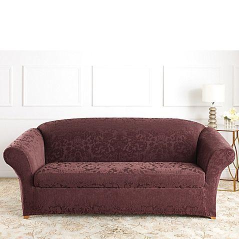 Sure Fit® Stretch Jacquard Damask Furniture Slipcovers