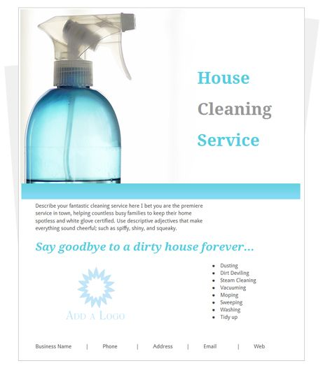 House Cleaning Flyer  Quit Your Day Job