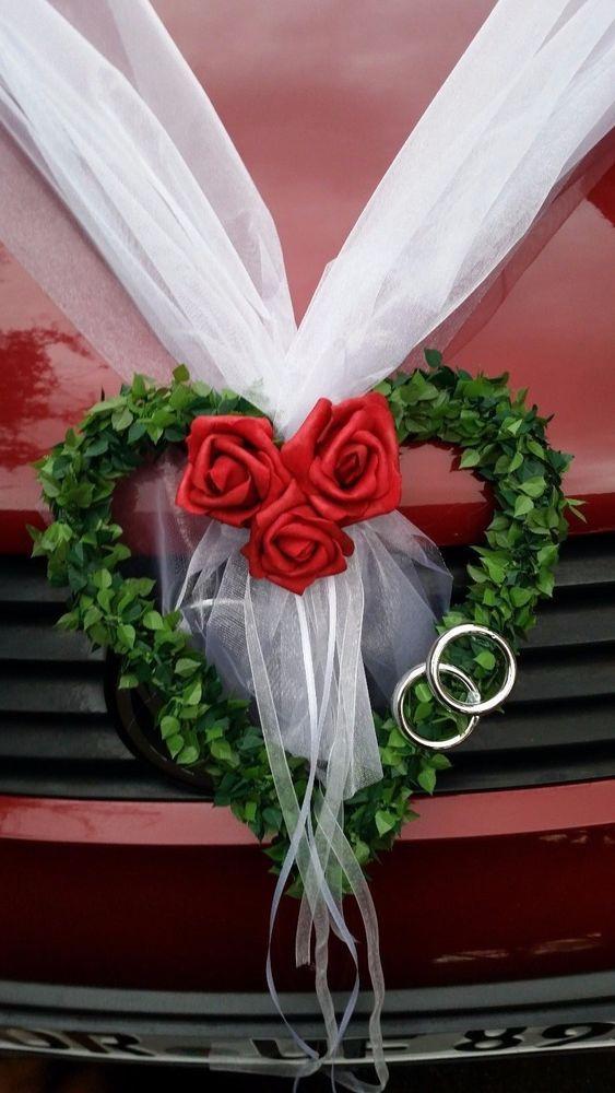 Autoschmuck Hochzeit Autodeko Girlande  Autodekoration