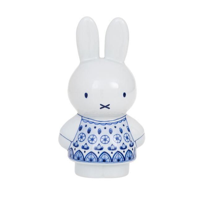 From Royal Delft, the only sanctified factory in Holland. Blessed by Royalty and considered the highest standard of 'Blue Delft'. Meet Nijntje (aka Miffi). Really well made and technically a 'piggybank'. 169.00 Euro's.
