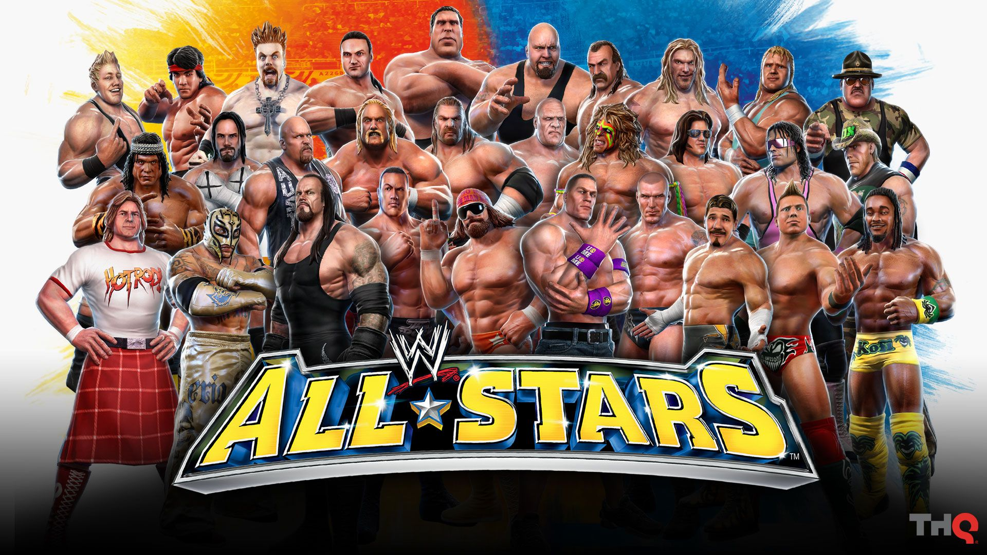 Wwe All Stars Roster I Remember I Had This As My Wallpaper For Ages Wrestling Games Wwe Wallpapers Wwe Game