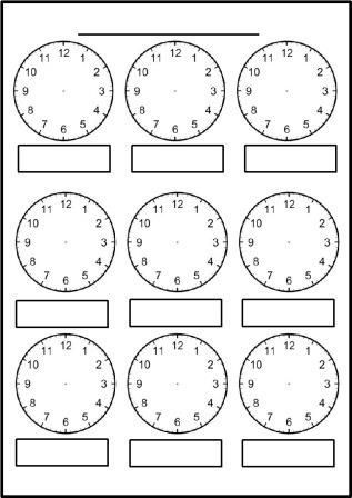 Free Printable Blank Clock Faces Worksheets Blank Clock Math