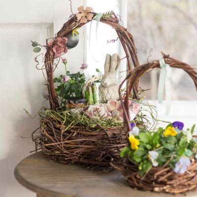 Easter Decor Diy Easter Decorations Easter Baskets Metal Flowers
