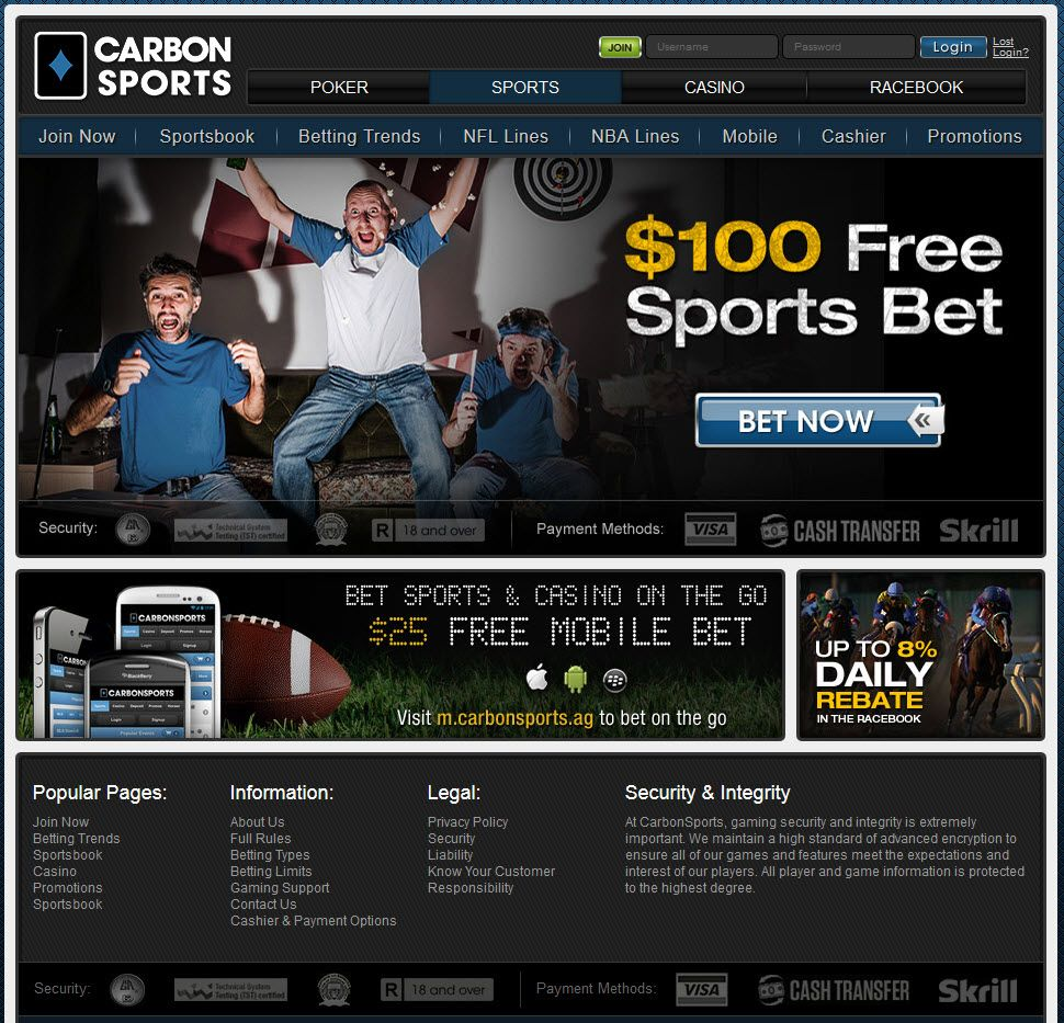 carbon sports betting