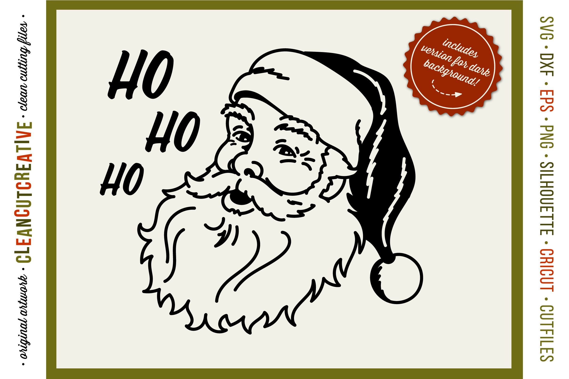 Ho Ho Ho Old School Santa Vintage Retro Santa Face Svg 41474 Svgs Design Bundles Free Svg Svg Original Hand Drawn