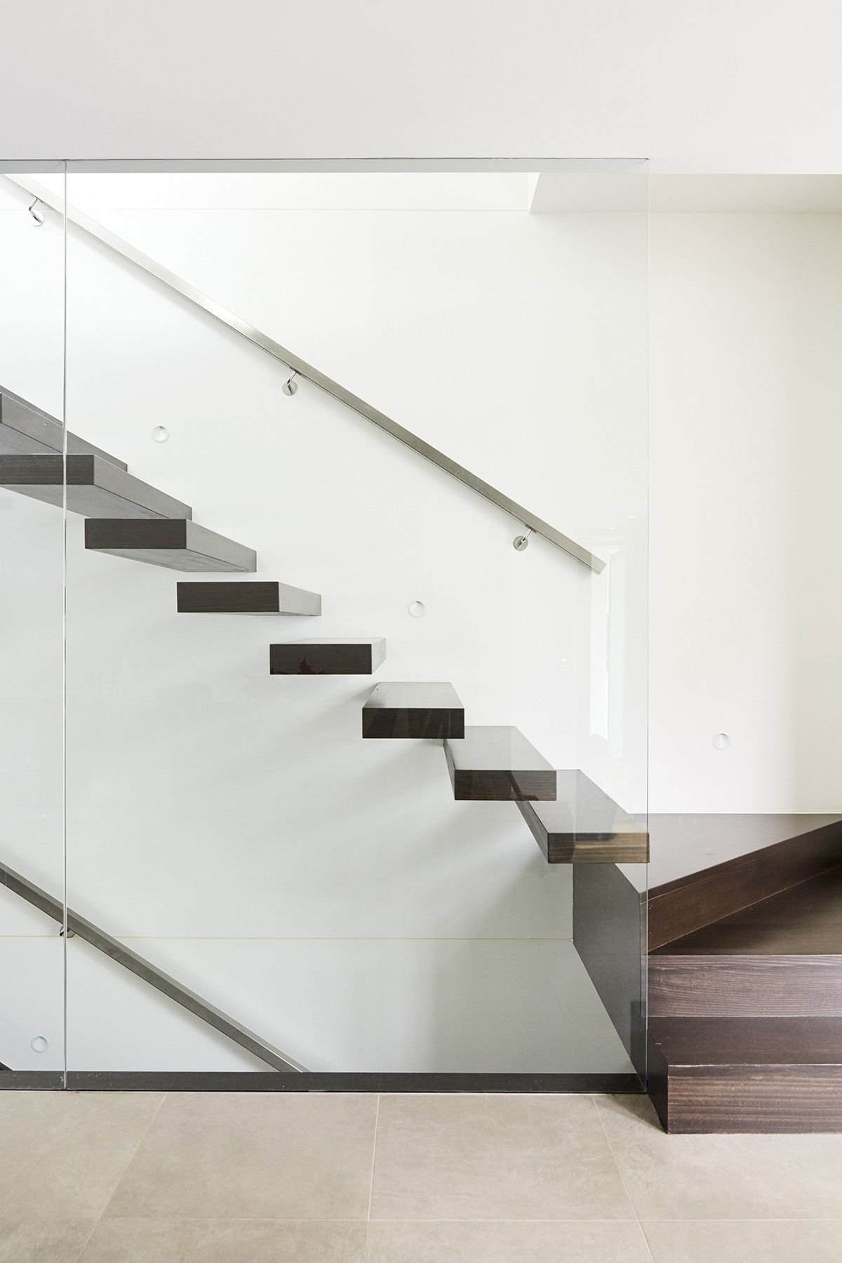 Best Cantilevered Stairs Floating Staircase Victorian Ash 400 x 300