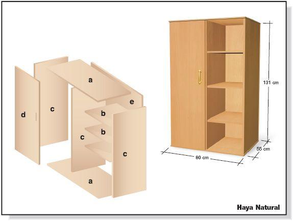 Como hacer bricolage plano ropero guardarropa de tablero Programa para hacer muebles de melamina