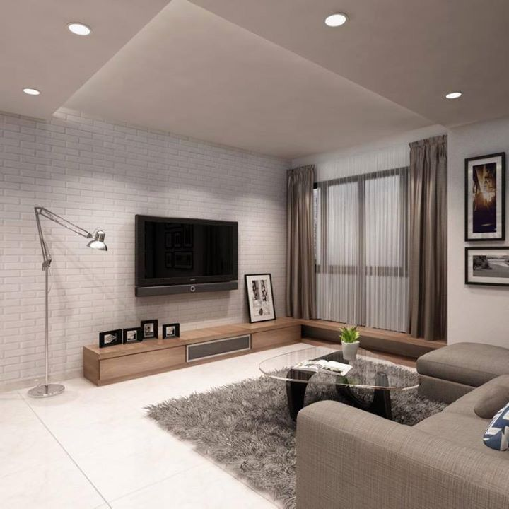 Modern Interior Decoration Living Rooms Ceiling Designs: Modern Scandinavian Living Room