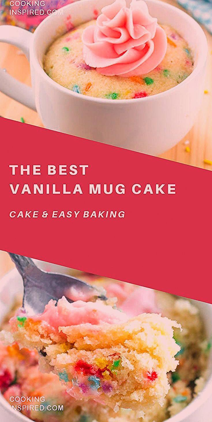 This easy vanilla mug cake is made in the microwave and ...